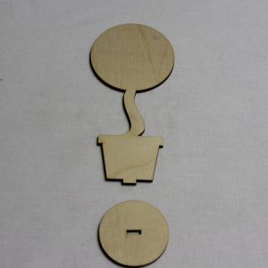 """`Заготовка для топиария """"Круг с подставкой"""" высота 15 см, фанера 3 мм"""