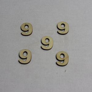 """`Заготовка цифра """"9"""" высота 3 см, фанера 3 мм"""
