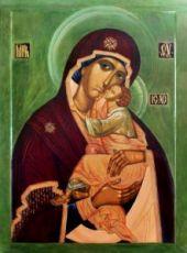 Словенская икона Божией Матери (рукописная)