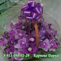 """Букет из конфет """"Очарование орхидей"""" с конфетами раффаэлло"""