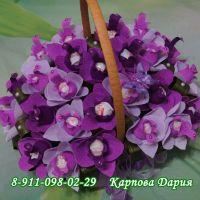 """Большой букет из конфет """"Очарование орхидей"""""""