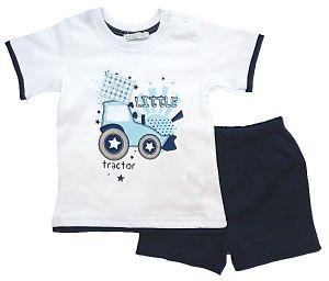 Костюм для мальчика белая футболка и синие шорты Турция