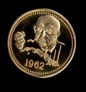 1 Червонец СССР 1962 Н.С. Хрущев. Карибский кризис позолота в капсуле