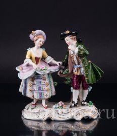 Танцующая пара, Sitzendorf, Германия, сер. 20 в
