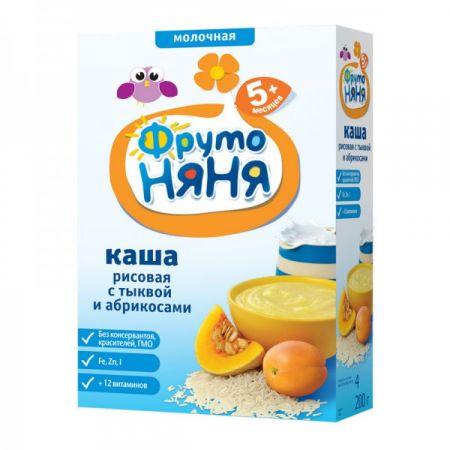 Каша молочная ФрутоНяня рисовая с тыквой и абрикосом 200 гр