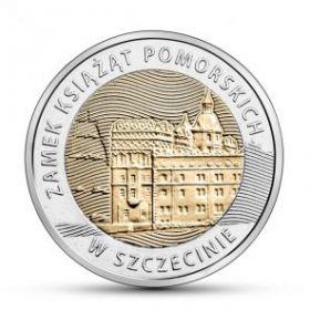 Замок Поморских князей в Щецине 5 злотых Польша 2016