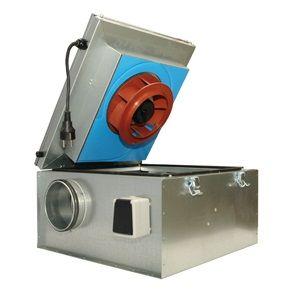 Вентилятор канальный KVKE 250  (шумоизолированный)