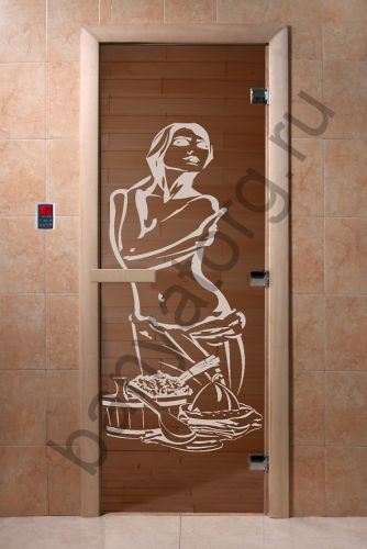 Дверь для бани DoorWood Искушение Бронза