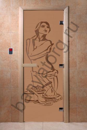 Дверь для бани DoorWood Искушение Бронза матовая