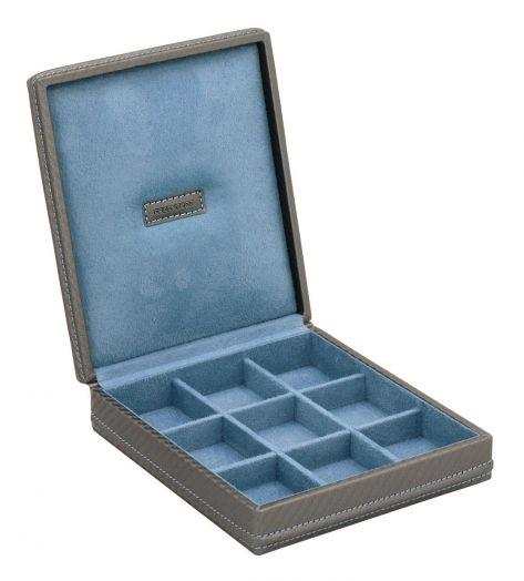 Шкатулка для хранения запонок Friedrich Lederwaren CARBON 32053-9