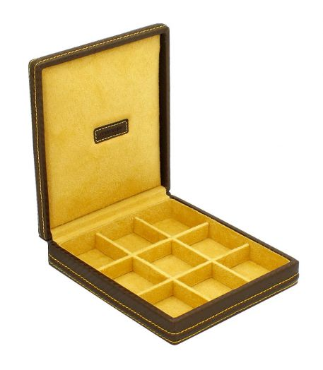 Шкатулка для хранения запонок Friedrich Lederwaren CARBON 32053-8