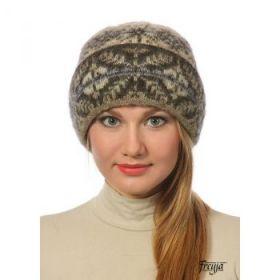 Шапка женская вязаная из Исландской шерсти 28297-21