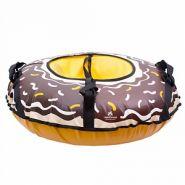 """Санки надувные """"Шоколадный пончик"""" тент, с клапаном 85см (Протеус)"""