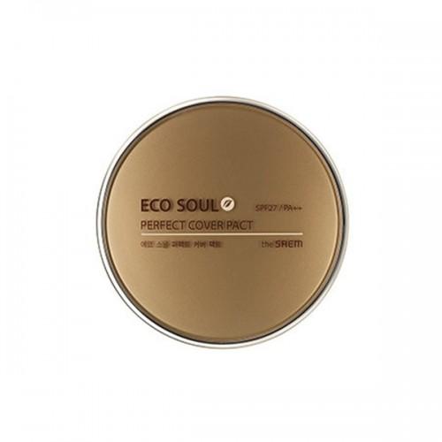 THE SAEM ECO SOUL Пудра компактная Eco Soul Perfect Cover Pact