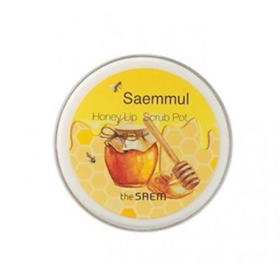 АКЦИЯ! THE SAEM Honey Скраб для губ медовый Saemmul Honey Lip Scrub Pot