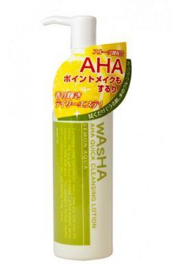 ROSETTE Washa Лосьон для быстрого снятия макияжа LEMON AQUA с фруктовыми альфа-оксикислотами 100 мл. 1/24