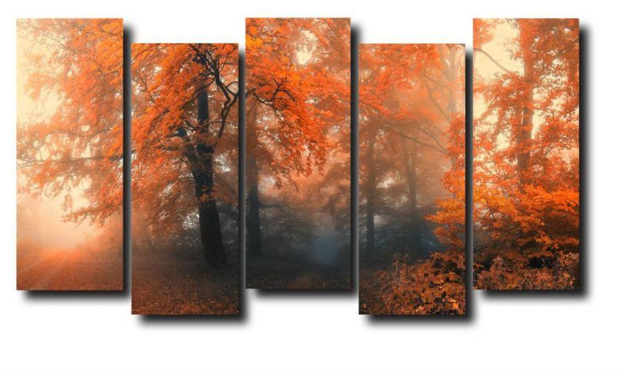 Модульная картина Природа. Осень. Лес