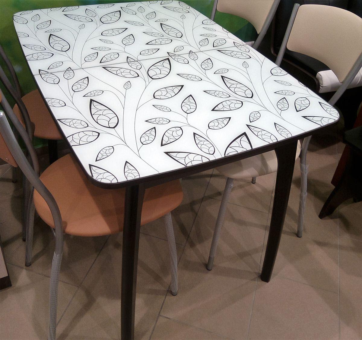 Стол кухонный раздвижной №15 (фотопечать)