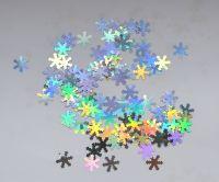 Снежинки для дизайна ногтей #2 (серебро голограмма)