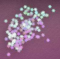 Снежинки для дизайна ногтей #5 (бело-розовые мелкие)