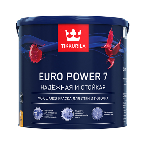 Краска TIKKURILA Euro Power 7