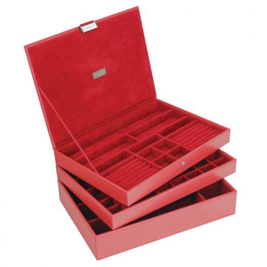 Универсальная шкатулка для хранения украшений и аксессуаров LC Designs Lady St.red-red 73130