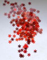 Снежинки для дизайна ногтей #13 (красные крупные)