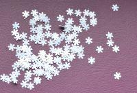 Снежинки для дизайна ногтей #11 (белые мелкие)