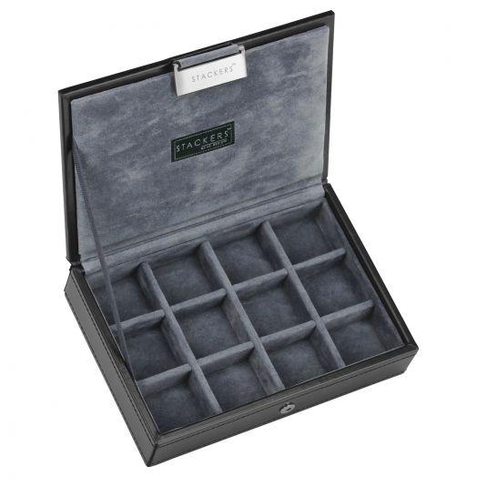 Универсальная плоская шкатулка для хранения украшений и аксессуаров  LC Designs Stackers - men 73184