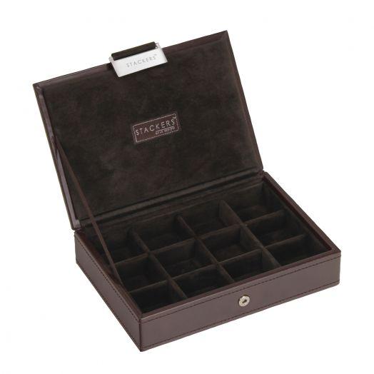 Универсальная плоская шкатулка для хранения украшений и аксессуаров  LC Designs Stackers - men 73180