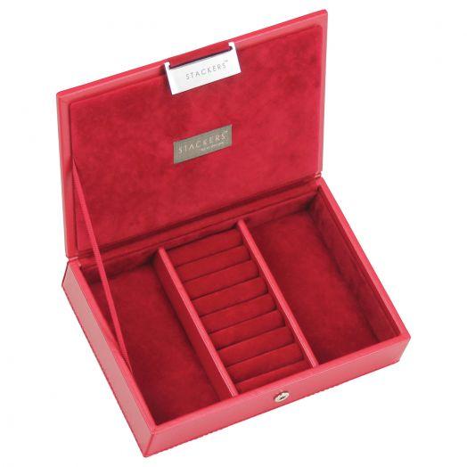 Универсальная плоская шкатулка для хранения украшений и аксессуаров  LC Designs Lady St.red-red 73175