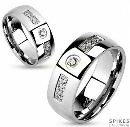 Стильное кольцо с фианитами Spikes (арт. 280138)