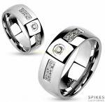 Стильное кольцо с фианитами Spikes