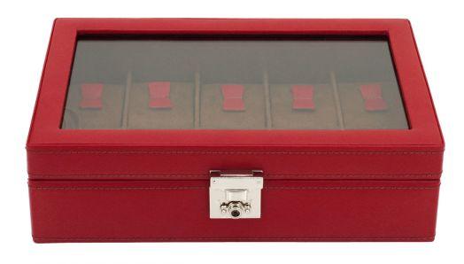 Шкатулка для хранения 10 наручных часов Friedrich Lederwaren Cordoba 26215-4