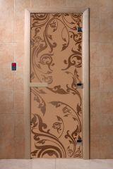 Дверь для бани DoorWood Венеция Бронза матовая