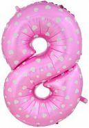 """Фигура """"8""""  (102 см), розовый"""