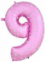 """Фигура """"9""""  (102 см), розовый"""