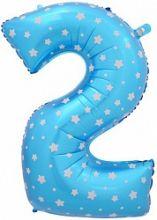 """Фигура """"2""""  (102 см), голубой"""