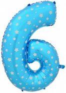 """Фигура """"6""""  (102 см), голубой"""