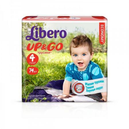 Трусики-подгузники Libero Up&Go 4 (7-11 кг) 74 шт