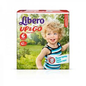 Трусики-подгузники Libero Up&Go 6 (13-20 кг) 62 шт.