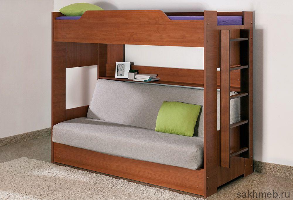Кровать двухъярусная с диван-кроватью (Боровичи)