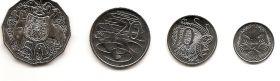 50 лет десятичной денежной системы Набор монет Австралия 2016 (4 монеты)