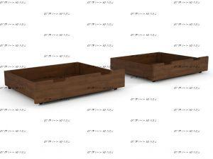 Ящики подкроватные к Тахта 2 Массив DreamLine (массив/фанера с 1 стороны)