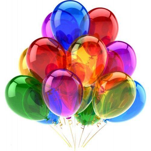 Разноцветные гелиевые шары