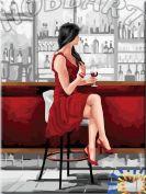 """Картина по номерам """"С бокалом вина"""" 30х40"""