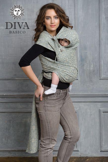 Diva Basico Damasco май-слинг с капюшоном