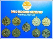 ОЛИМПИАДА МОСКВА 1980г. НАБОР медалей, Великобритания, не частый