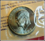 1 доллар США 1972 S серебро запечатан полный комплект