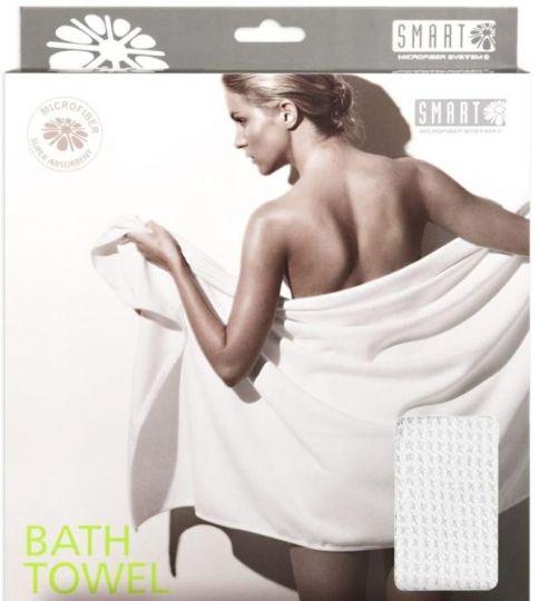 Smart Microfiber Полотенце банное вафельное 80 х 150 см белое